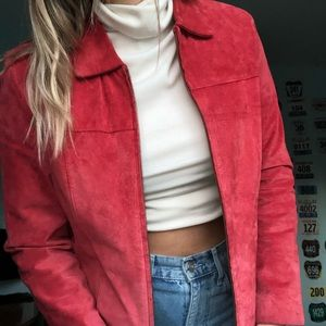 Leather Suede Red/Pink jacket